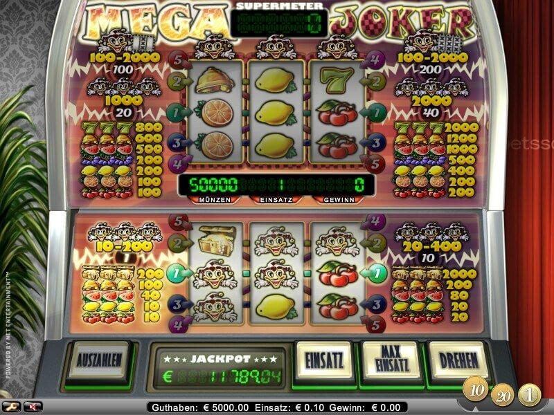 real casino slots online free mega joker
